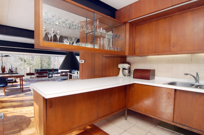 kitchen cabinets on display