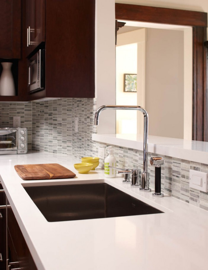 kitchen recycled tiles