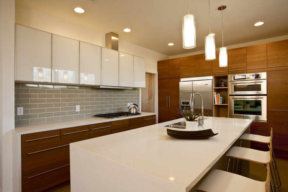 mixed style kitchen cabinets