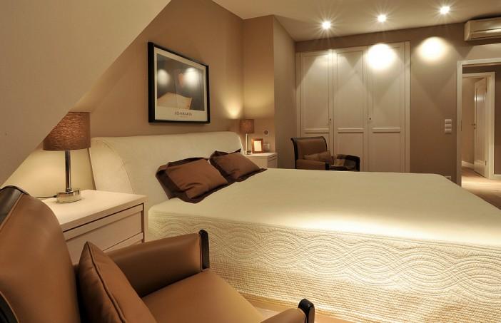 traditional basement bedroom