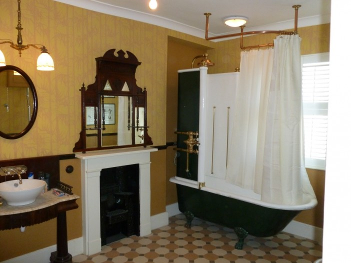 the victorian style bathroom