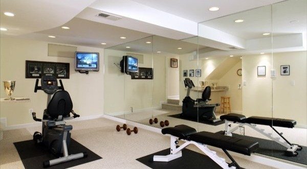 home gym by aa design build