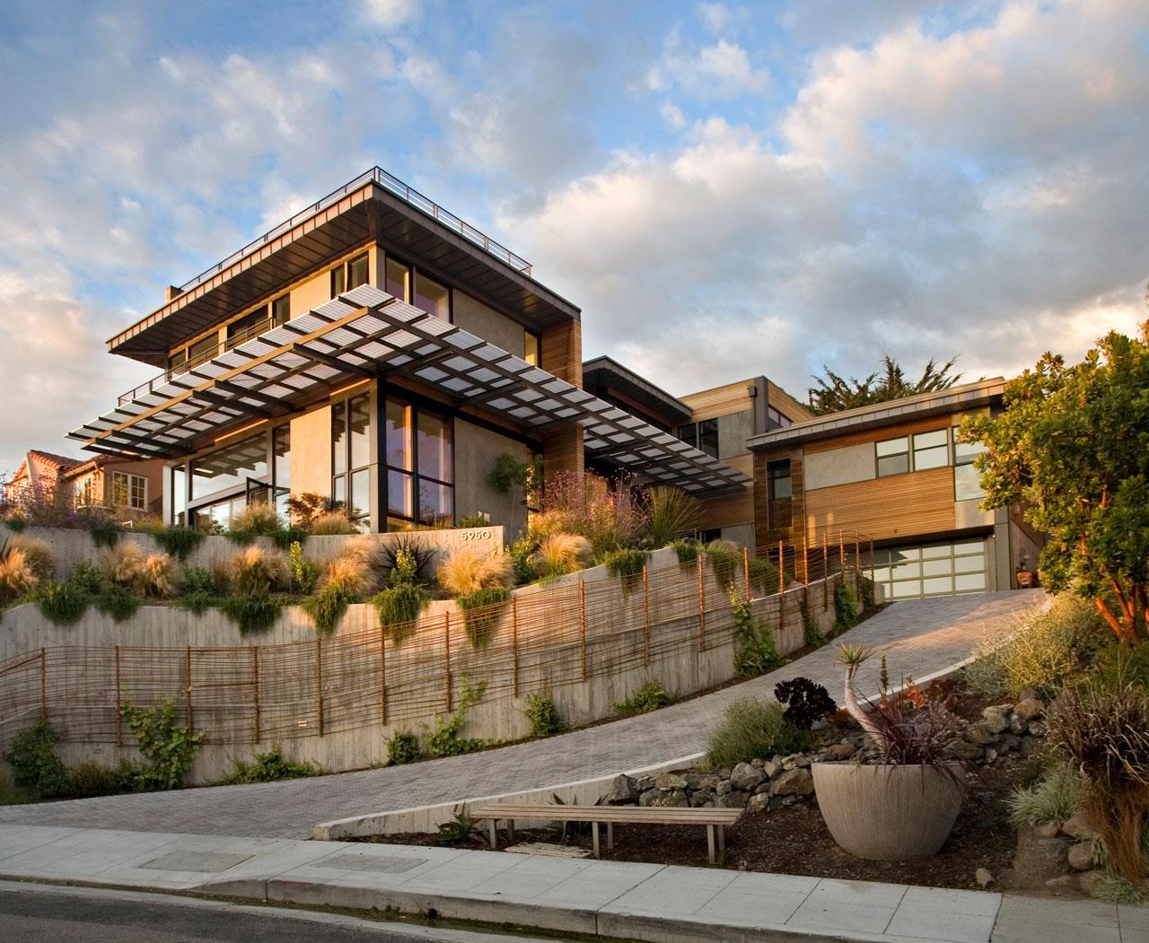 Interior and exterior design of margarido house in california for California home design