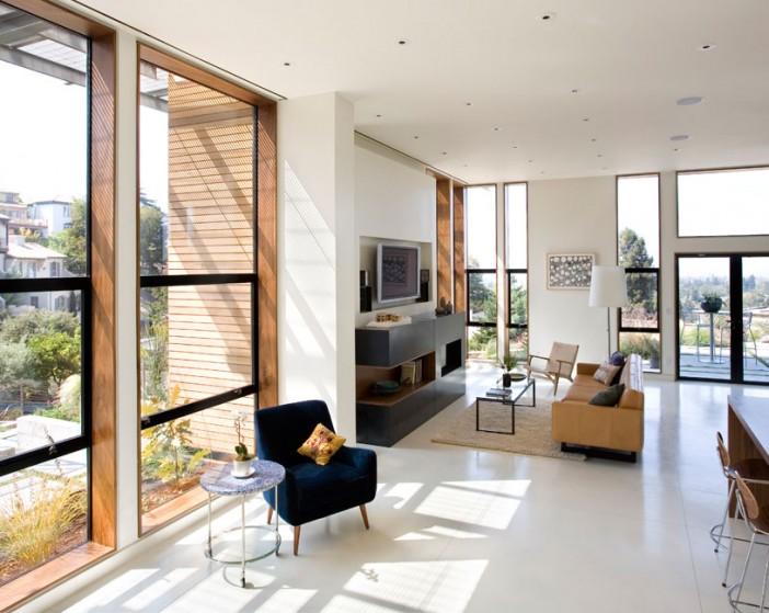 Interior and exterior design of margarido house in california for Interior design oakland