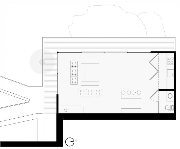 relaxing lounge layout plan