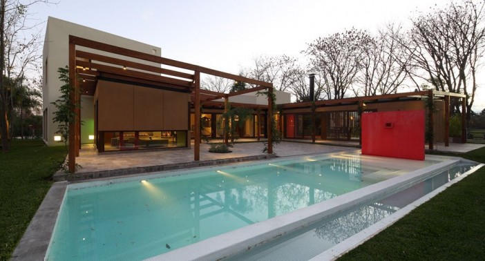 swimming pool in a house in central courtyard