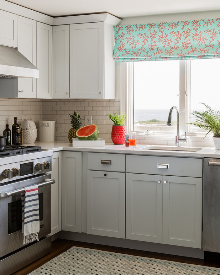 Kitchen Cabinets Grey Lower White Upper: How To Clean Kitchen