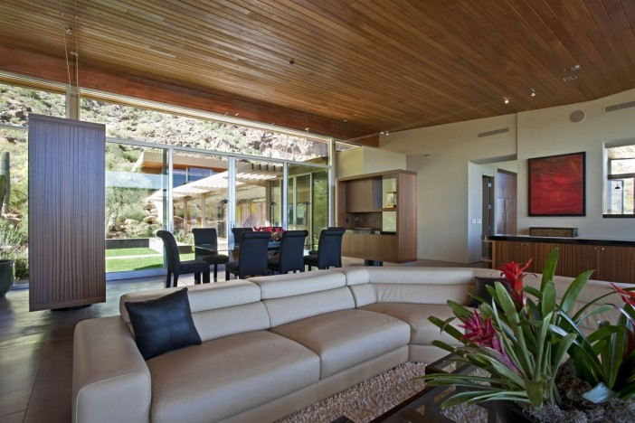 perfect living area wooden style ceilings