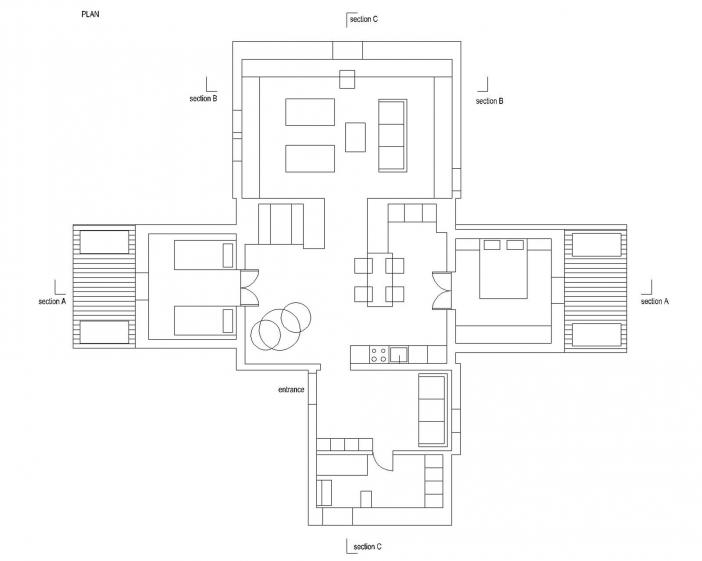 layout plan attic apartment bled arhitektura