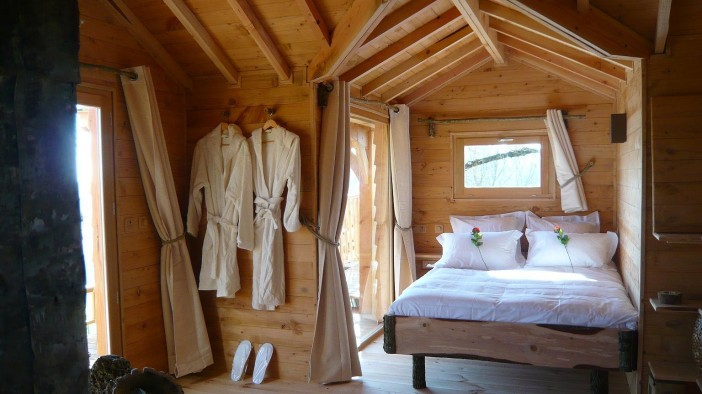 interior design of wooden spa tree house 05