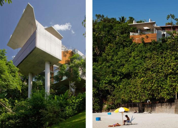 smartly designed concrete home in ubatuba 02