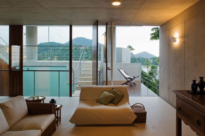 furniture of concrete home in ubatuba 31