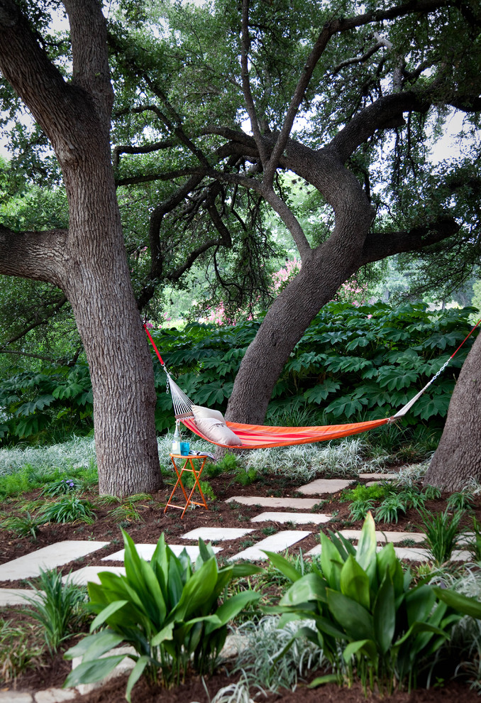 contemporary landscape vibrant hammocks