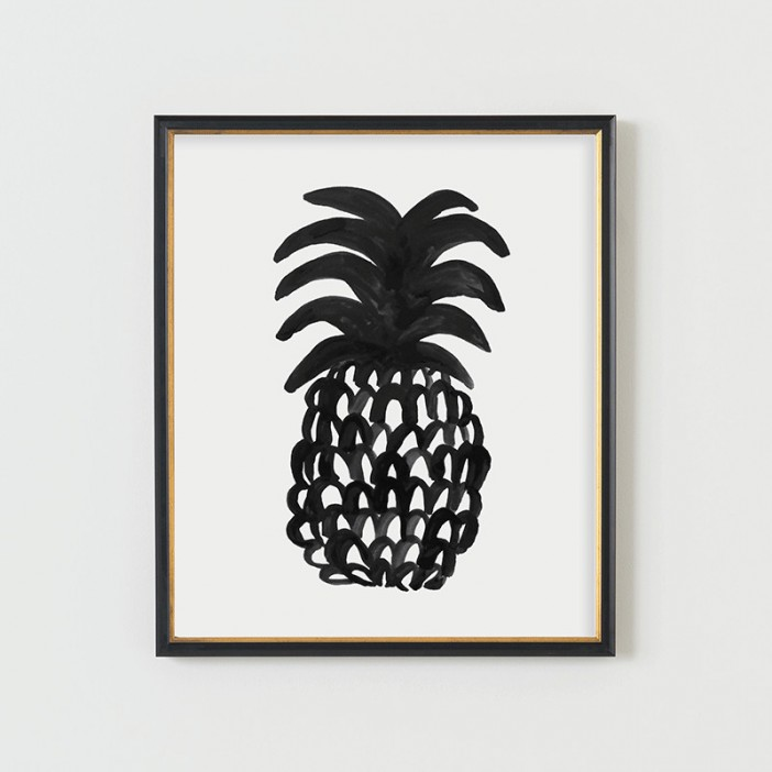 rooms and kitchen look contemporary prints and posters pineapple print