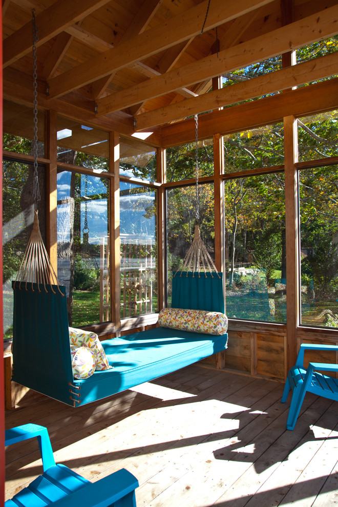 contemporary sunroom hammock