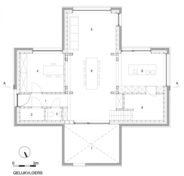 layout plan dna house blaf architecten 07