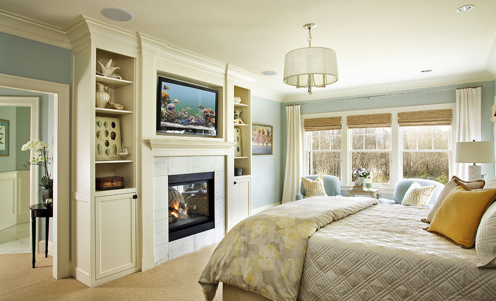 fireplace ideas for a posh bedroom