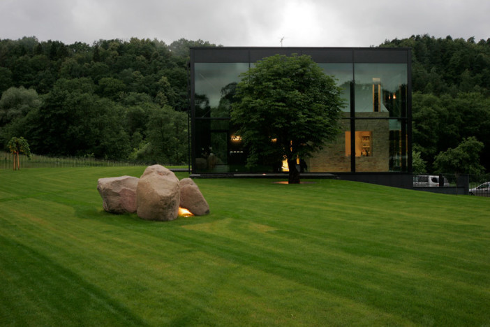 glass shape of glass house in lithuania 05