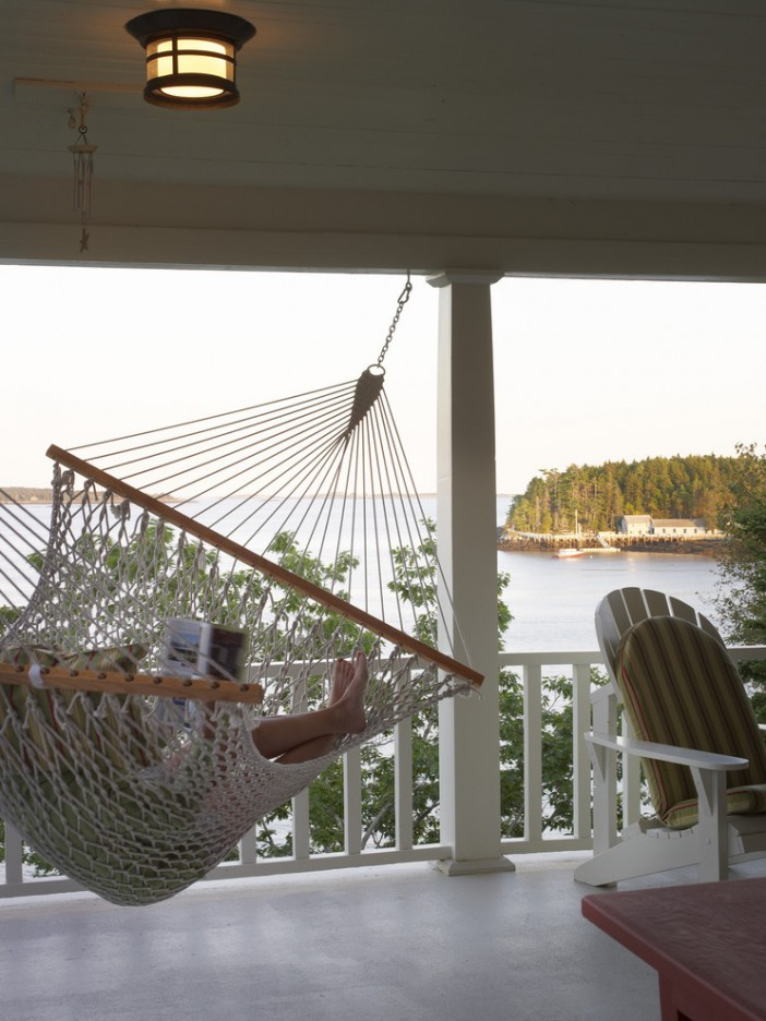 ideal hammock on traditional porch