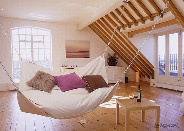 living room or attic sofa hammock