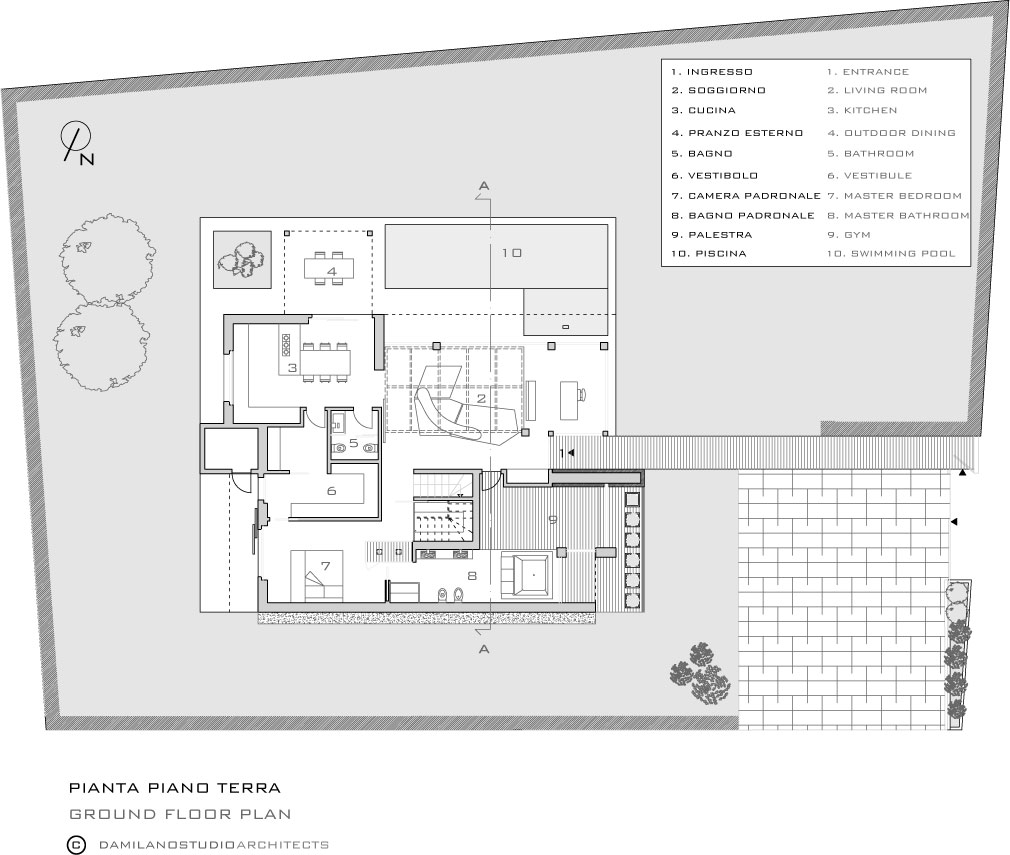 ground floor plan maison de la lumiere 15 - Plan Maison Architecte Design
