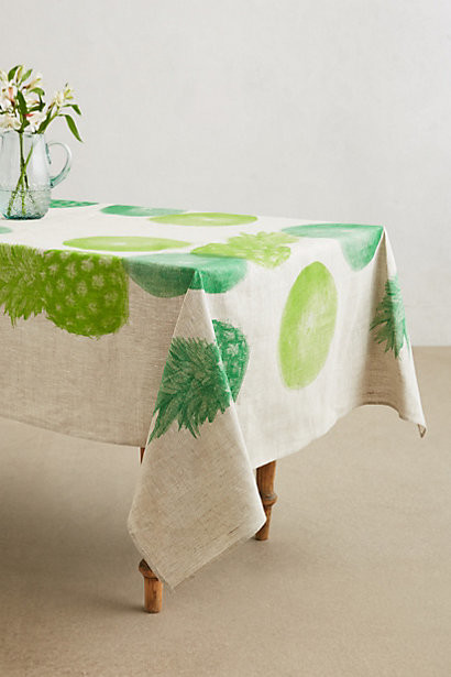 pineapple paradise cove tablecloth by anthropologie