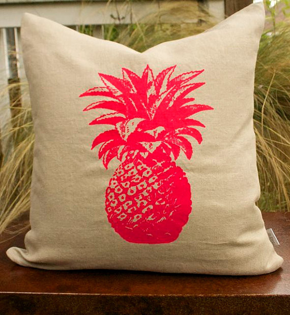 pink pineapple contemporary cushions pillows by recover me design