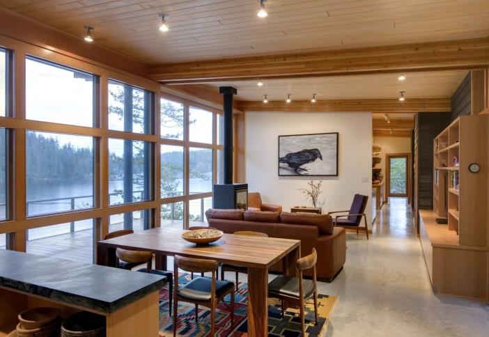 cortes island residence wood interiors 16