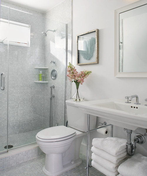 Top ways to make small bathroom look bigger interior for Best way to design a small bathroom