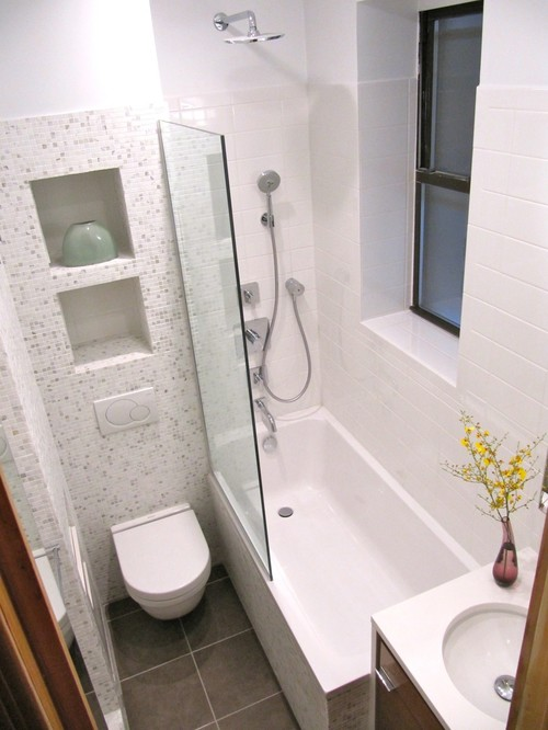 ... Look For A Corner Sink. You Cannot Only Use The Space That Is Idle On  The Corner, But Can Also Make Space For The Shower Enclosure Door To Open  Easily.