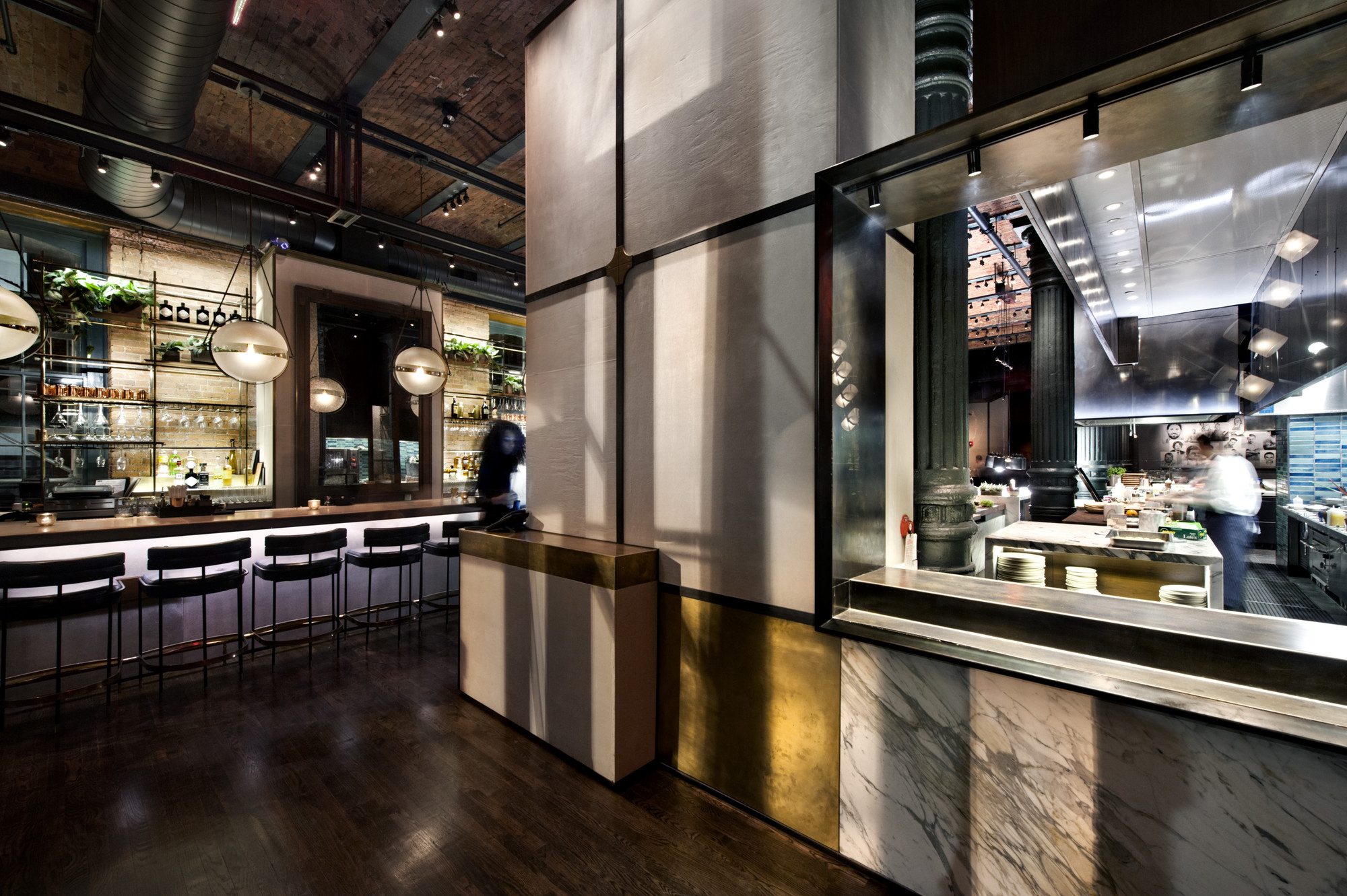 The chefs club by food wine by rockwell group new york for Architecture interior design new york