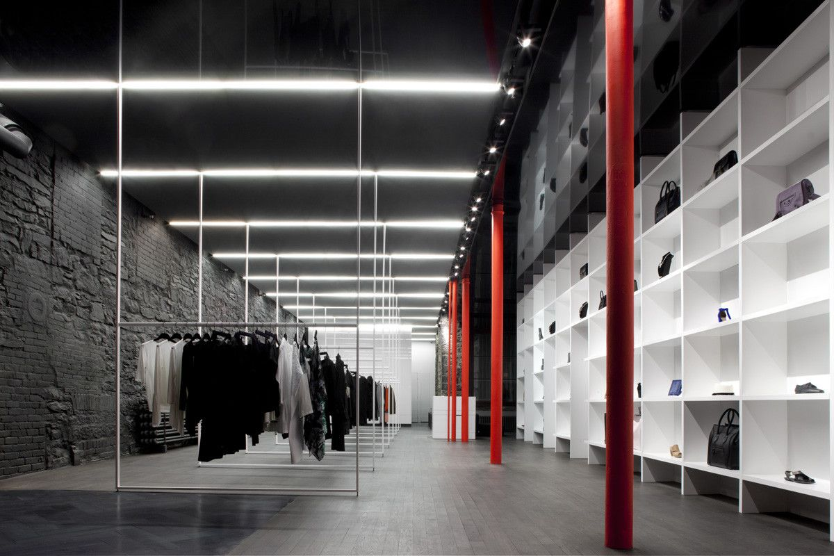 modern architectural design ideas for fashion retail store the cahier dexercices in canada by saucier perrotte architectes - Retail Store Design Ideas
