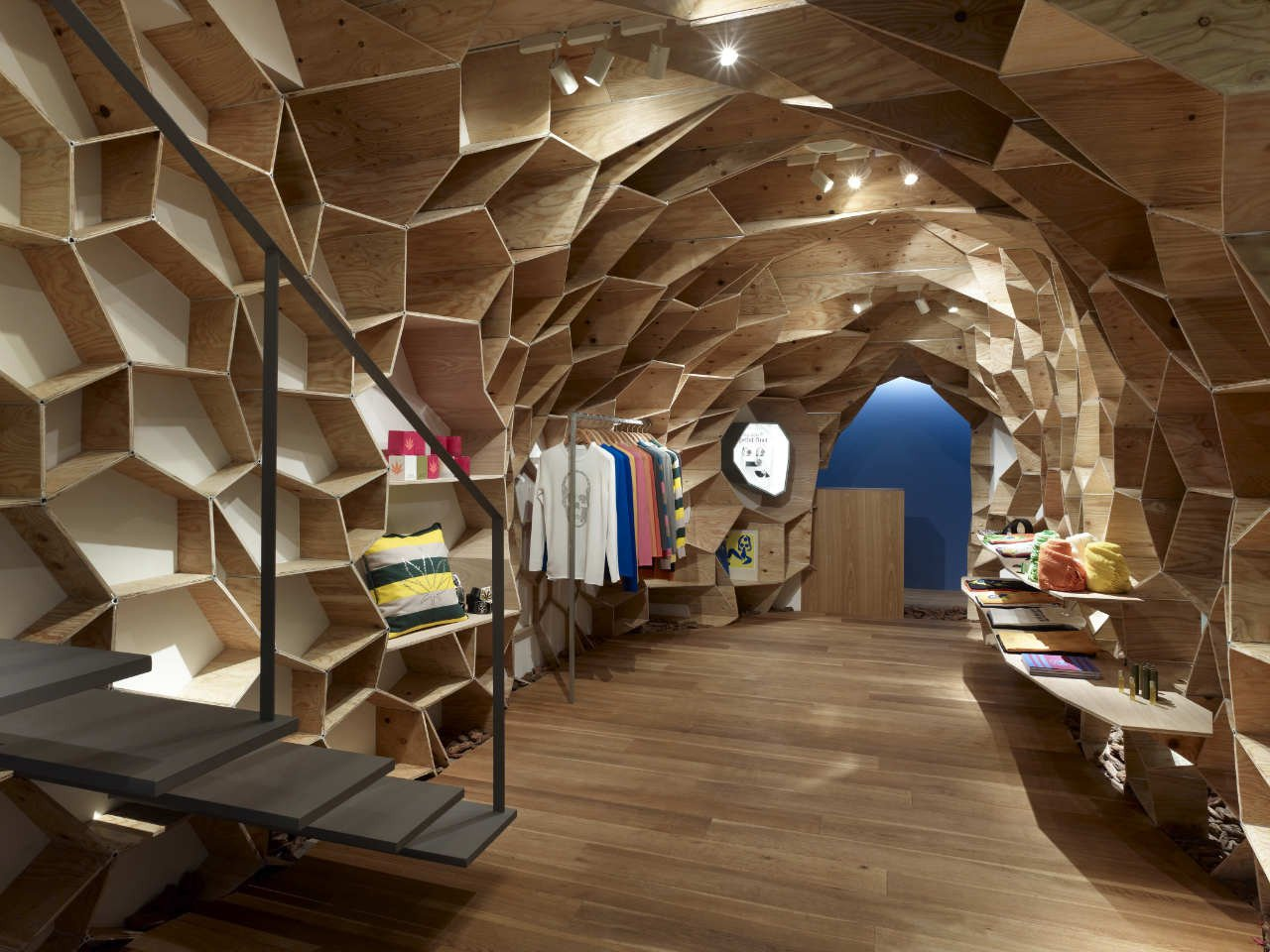 innovative design ideas for retail store the lucien pellat finet shinsaibashi in japan by kengo kuma associates - Retail Design Ideas