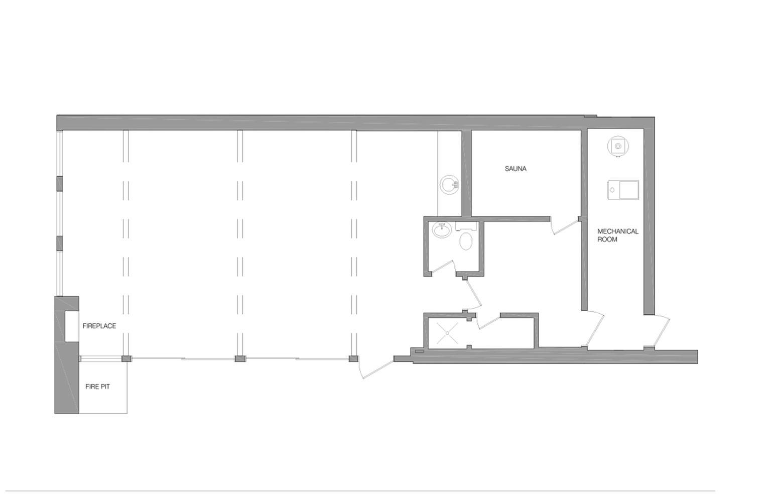 U:ProjectsactiveRoche PoolhousedrawingsPlan existing PRESEN