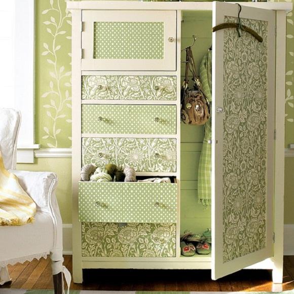Wallpaper On Cabinet Doors Choice Image Design Modern