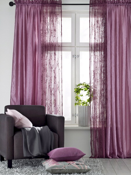 Choosing Varied Colors with Curtains for Interior Color ...